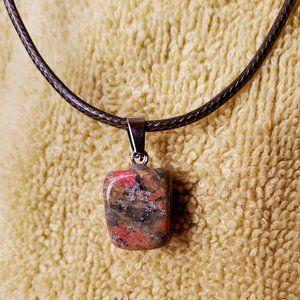 Polished Stone Necklace, Unakite Crystal